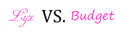 Lyx vs budget rosa feminint