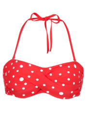 Pompom-twisted-bandeau-red